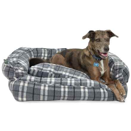 "Telluride Marty Yarn-Dye Bolster Dog Bed - Large, 36x27"" in Plaid - Closeouts"