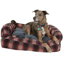 """Telluride Plaid Bolster Dog Bed - Extra Large, 36x27"""" in Plaid - Closeouts"""