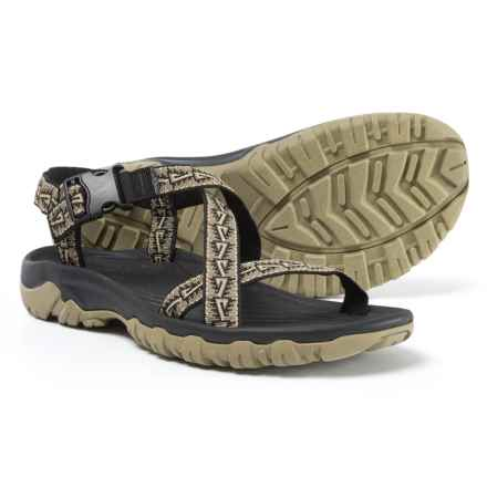 Telluride Pyramid Sport Sandals (For Men) in Black/Olive - Closeouts