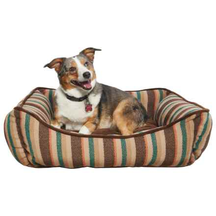 "Telluride Reversible Lounger Dog Bed - 28x22"" in Tan Mini Herringbone - Closeouts"