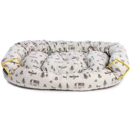 Telluride Stripe Extra Large Couch Bolster Dog Bed 48x36x14 In Neutral Closeouts