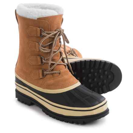 Telluride Suede Pac Boots - Waterproof, Insulated (For Men) in Brown/Black - Closeouts