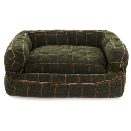"Telluride Vail Plaid XL Bolster Dog Bed - 36x27x12"" in Multi - Closeouts"