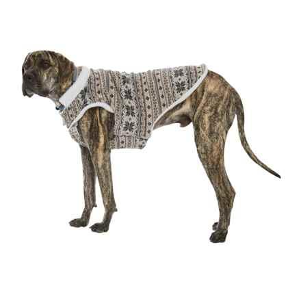 Telluride Walter Fair Isle Dog Jacket in Beige - Closeouts