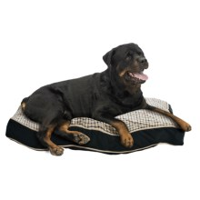 "Telluride Windowpane Rectangle Dog Bed - Extra Large, 28x40"" in Blue - Closeouts"