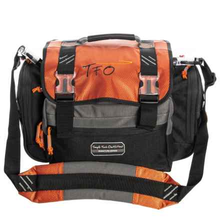 Temple Fork Outfitters Carry-All Fly Fishing Tackle Bag - Medium in Orange/Grey/Black - Closeouts