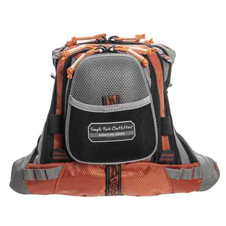 Temple Fork Outfitters Chest Pack - Medium, 5-Pocket in Grey/Orange - Closeouts