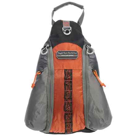 Temple Fork Outfitters Hybrid Chest Backpack in Grey/Orange - Closeouts