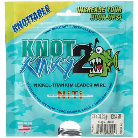 Temple Fork Outfitters Knot 2 Kinky Leader Wire - 75 lb. in See Photo - Closeouts