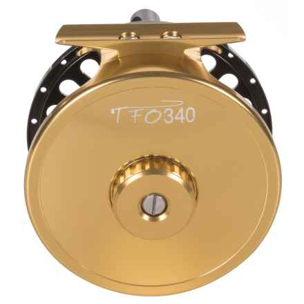 Temple Fork Outfitters TFO 340 Fly Reel - 8wt in Black/Gold - Closeouts