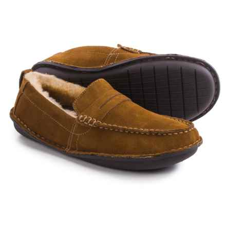 Tempur-Pedic Isoheight Slippers - Suede (For Men) in Chestnut - Closeouts
