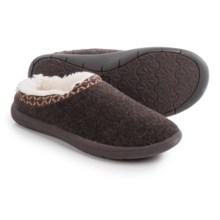 Tempur-Pedic Subarctic Wool Slippers (For Women) in Chocolate - Closeouts