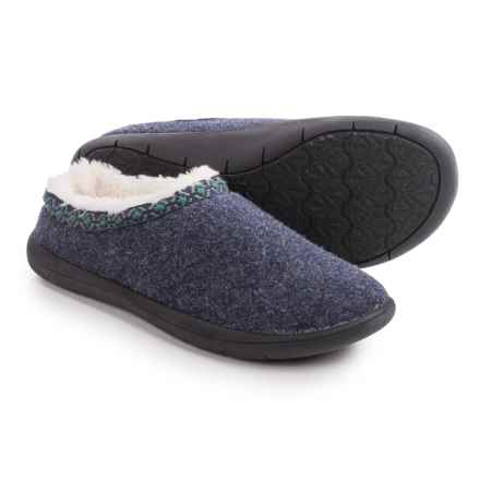 Tempur-Pedic Subarctic Wool Slippers (For Women) in Navy - Closeouts