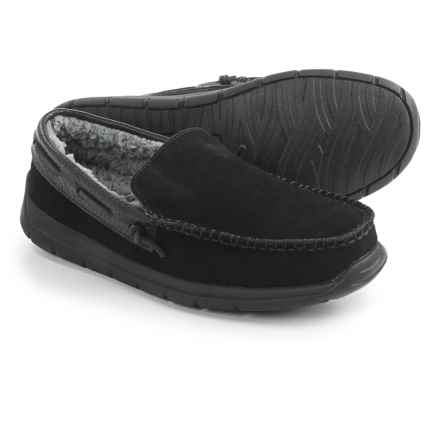 Tempur-Pedic Upslope Slippers - Suede (For Men) in Black - Closeouts