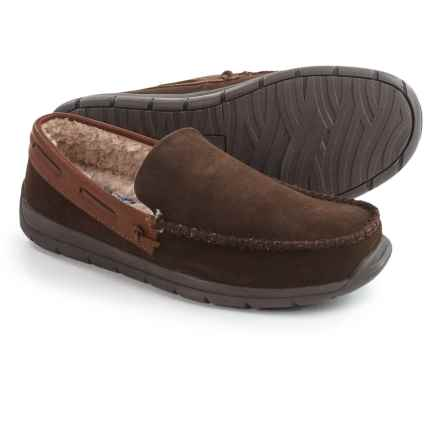 Tempur-Pedic Upslope Slippers - Suede (For Men) in Chocolate - Closeouts