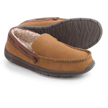 Tempur-Pedic Upslope Slippers - Suede (For Men) in Hashbrown - Closeouts