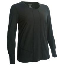Terramar 2.0 Cloud Nine Base Layer Top - UPF 25+, Long Sleeve (For Plus Size Women) in Black - Closeouts