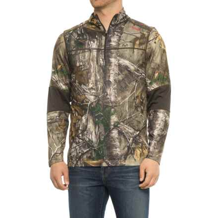 Terramar 3.0 Tracker Base Layer Top - Zip Neck, Long Sleeve (For Men) in Realtree Xtra/Dark Loden - Closeouts