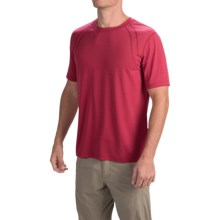 Terramar AirTouch Shirt - Short Sleeve (For Men) in Claret - Closeouts