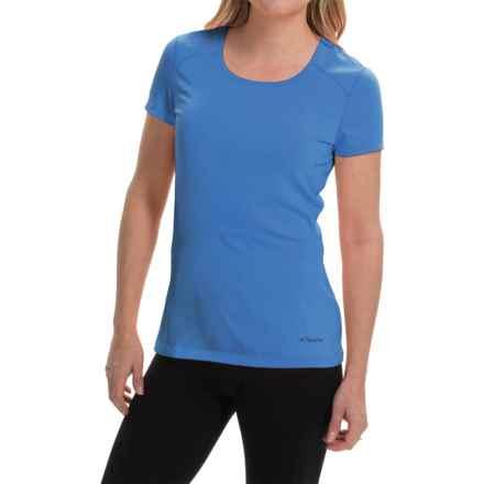 Terramar AirTouch Shirt - UPF 25+, Short Sleeve (For Women) in Ocean Blue - Closeouts