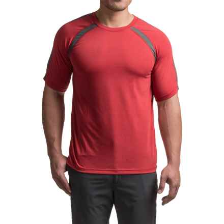Terramar AirTouch T-Shirt - UPF 25+, Crew Neck, Short Sleeve (For Men) in Claret - Closeouts