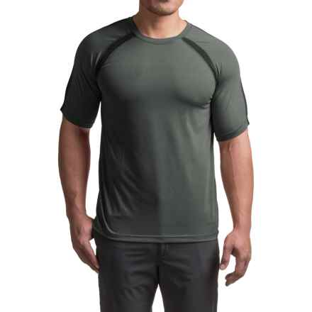 Terramar AirTouch T-Shirt - UPF 25+, Crew Neck, Short Sleeve (For Men) in Dark Charcoal - Closeouts