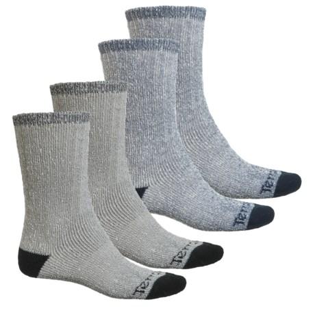 Terramar All-Season Heavy Socks - 4-Pack, Crew (For Men) in Black/Navy