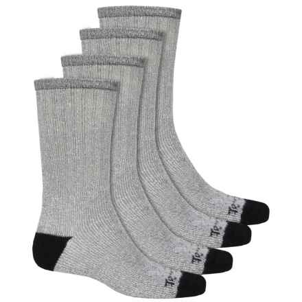 Terramar All-Season Heavy Socks - 4-Pack, Crew (For Men) in Navy/Black - Closeouts