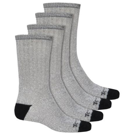 Terramar All-Season Heavy Socks - 4-Pack, Crew (For Men) in Navy/Black
