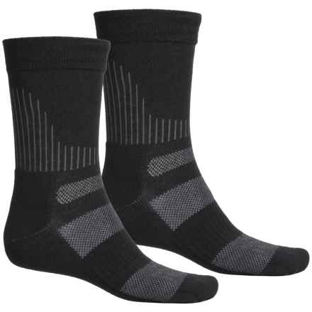 Terramar All-Terrain CoolMax® Socks - 2-Pack, Crew (For Men and Women) in Black - Closeouts