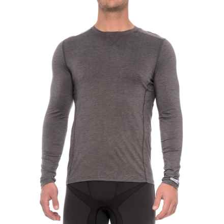 Terramar Ascendor Crew Neck 1.0 ClimaSense® Base Layer Top - UPF 25+, Long Sleeve (For Men) in Asphalt Melange - Closeouts