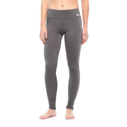 Terramar Ascendor Tight 1.0 ClimaSense® Base Layer Pants - UPF 25+ (For Women) in Asphalt Melange - Closeouts
