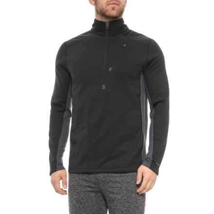 Terramar Beast 4.0 Base Layer Top - UPF 50+, Zip Neck, Long Sleeve (For Men) in Black - Closeouts