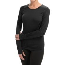Terramar Body Sensor Base Layer Top - UPF 25+, Long Sleeve (For Women) in Black - Closeouts