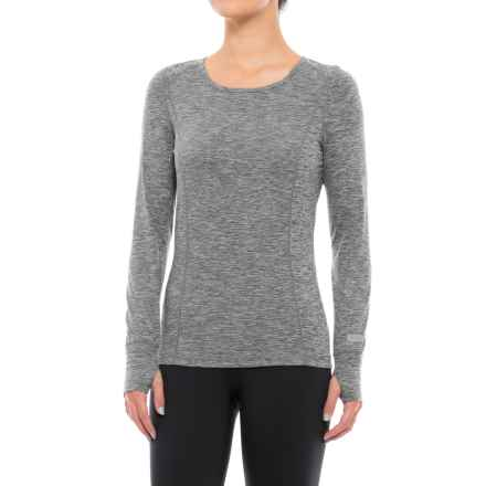 Terramar Body Sensor Base Layer Top - UPF 25+, Long Sleeve (For Women) in Grey Melange - Closeouts