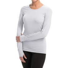 Terramar Body Sensor Base Layer Top - UPF 25+, Long Sleeve (For Women) in White - Closeouts