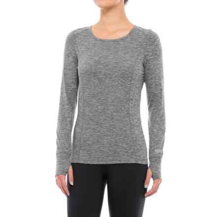 Terramar Body Sensor Cloud Nine Base Layer Top - UPF 25+, Long Sleeve (For Women) in Grey Melange - Closeouts