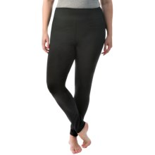 Terramar Body Sensor Thermolator 2 Base Layer Bottoms - UPF 25+ (For Plus Size Women) in Black - Closeouts