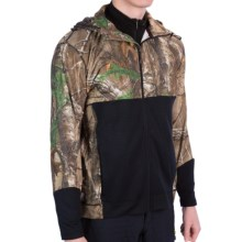 Terramar Camo 3.0 GEO Fleece Full-Zip Hoodie - UPF 50+, Heavyweight (For Men) in Realtree Xtra/Loden - Closeouts
