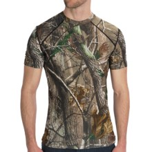 Terramar Camo Essentials Shirt - Crew Neck, Short Sleeve (For Men) in Realtree Ap - Closeouts