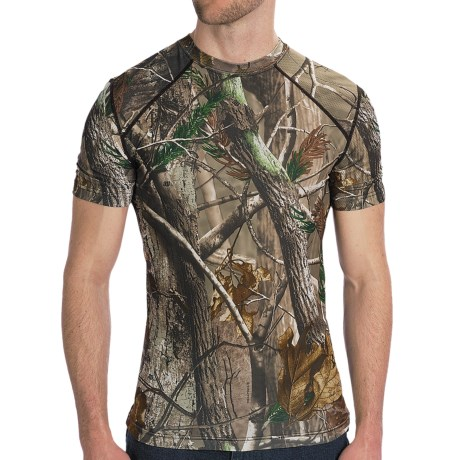 Terramar Camo Essentials Shirt - Crew Neck, Short Sleeve (For Men) in Realtree Ap