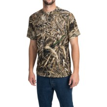 Terramar Camo Essentials Shirt - Crew Neck, Short Sleeve (For Men) in Realtree Max 5 - Closeouts