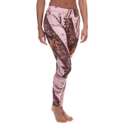 Terramar Camo Essentials Stalker Base Layer Bottoms - UPF 25+, Midweight (For Women) in Pink Mossy Oak Breakup - Closeouts
