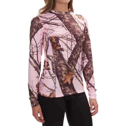 Terramar Camo Essentials Stalker Shirt - UPF 25+, Crew Neck, Long Sleeve (For Women) in Pink Mossy Oak Breakup - Closeouts