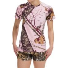 Terramar Camo Essentials Stalker T-Shirt - Short Sleeve (For Women) in Pink Mossy Oak Breakup - Closeouts