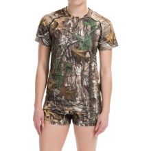 Terramar Camo Essentials Stalker T-Shirt - Short Sleeve (For Women) in Real Tree Xtra - Closeouts