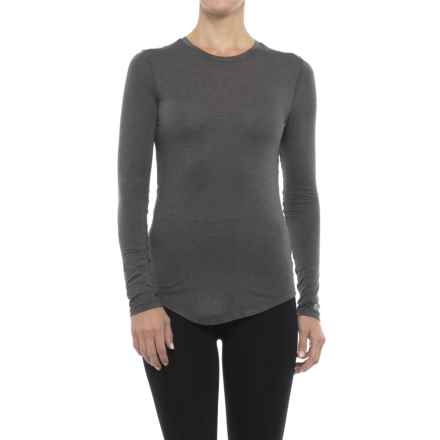 Terramar ClimaSense® Ascendor Base Layer Top - UPF 25+, Long Sleeve (For Women) in Asphalt Melange - Closeouts