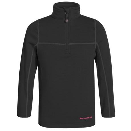 Terramar ClimaSense® Ecolator CS 3.0 Base Layer Top - UPF 50+, Long Sleeve (For Little and Big Kids) in Black