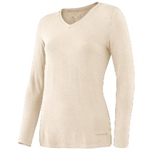 Terramar Climasense Kashmir CS 1.0 Base Layer Top - UPF 25+, Long Sleeve (For Women) in Cream - Closeouts