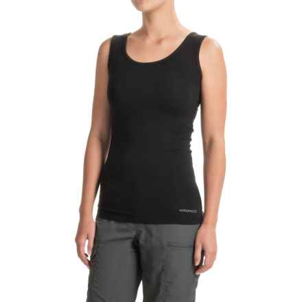 Terramar ClimaSense® Kashmir Tank Top - UPF 25+ (For Women) in Black - Closeouts